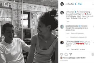 Katie Holmes e la prima foto social con il nuovo fidanzato Emilio Vitolo