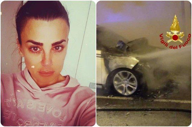 Serena Enardu, l'auto incendiata: cosa è successo