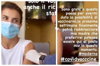 """Elisabetta Canalis ha fatto il vaccino anti Covid: """"Ora posso riabbracciare mia mamma"""""""