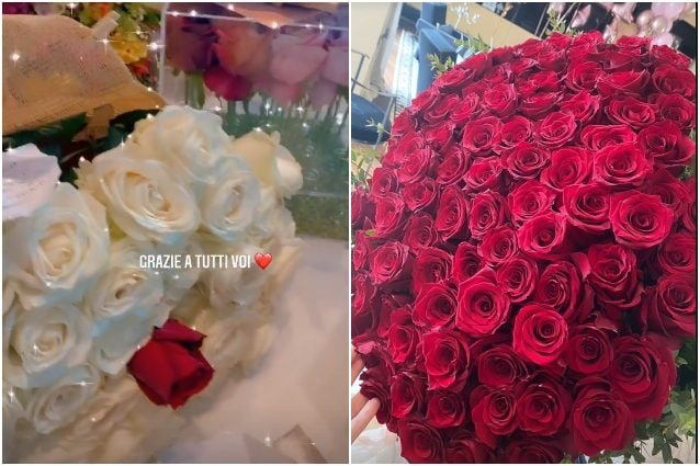 I fiori ricevuti da Elisabetta Gregoraci per il suo compleanno