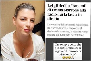"""""""Lei gli dedica 'Amami' in radio, lui la lascia in diretta"""", l'ironia di Emma Marrone"""