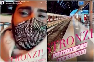 Il video di Federico Fashion Style disperato in stazione dopo avere perso il treno