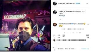 Carlo Di Francesco nell'orchestra di Sanremo 2021, il commento di Fiorella Mannoia da casa