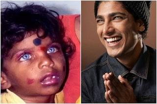 Akash Kumar da bambino con gli occhi azzurri, ma la foto è presa su Google: la versione del modello