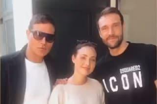 Gabriel Garko con Rosalinda Cannavò e Andrea Zenga, il bellissimo messaggio per la coppia