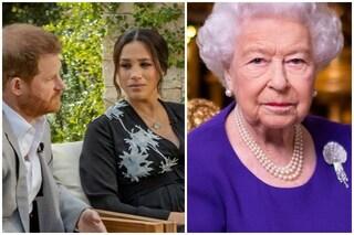 """La Regina rattristata dall'intervista di Harry e Meghan Markle: """"Accuse di razzismo preoccupano"""""""
