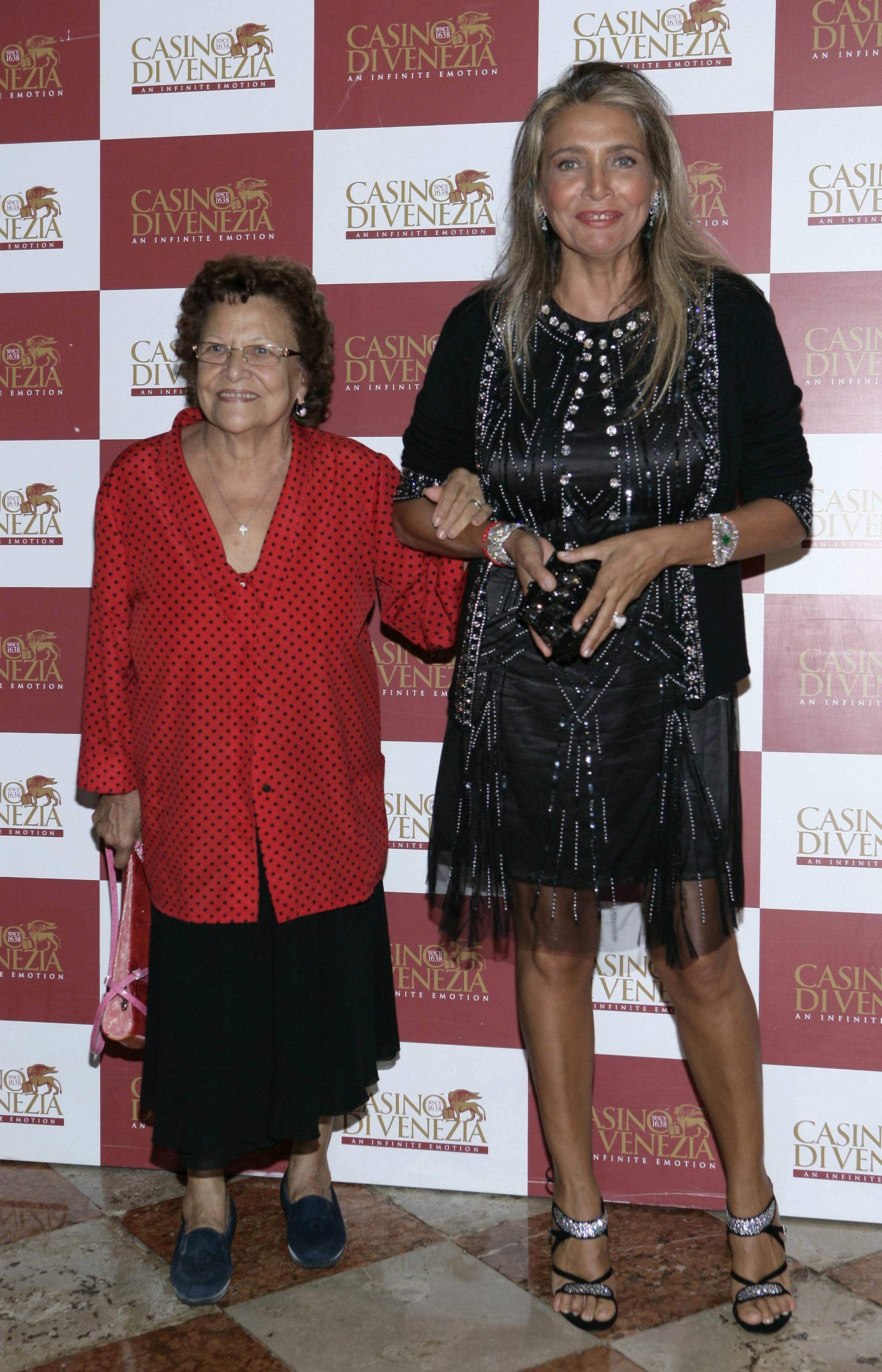 Mara Venier con la madre Elsa