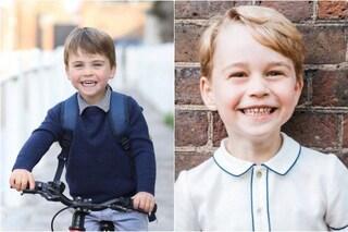 Il principino Louis compie 3 anni e la somiglianza con il fratello maggiore George è impressionante