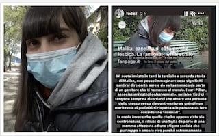 """La solidarietà di Fedez a Malika: """"Il rifiuto di una figlia è contronatura"""""""