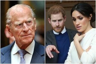 Morto il principe Filippo: Harry torna a Londra dopo oltre un anno, i dubbi su Meghan Markle