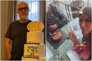 """Briatore compie 71 anni: sulla torta c'è la """"foto"""" della Gregoraci, sotto gli auguri di Heidi Klum"""