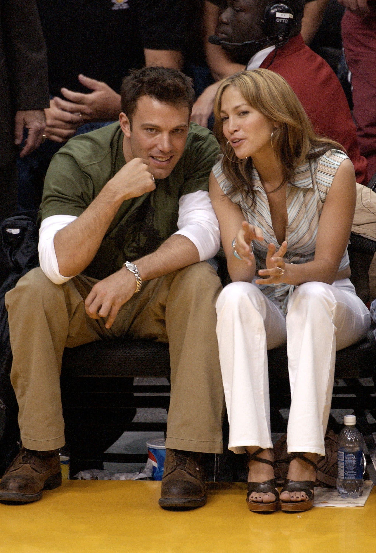 (Jennifer Lopez e Ben Affleck nel 2003, foto Getty).