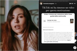 Aurora Ramazzotti posta una foto da bambina, Tik Tok la censura perché viola le regole sui minori