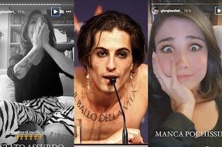 Giorgia Soleri piange per la vittoria del fidanzato Damiano dei Maneskin all'Eurovision