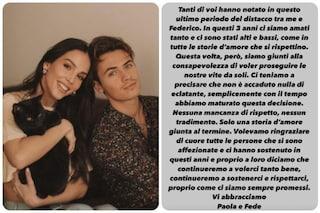 Paola Di Benedetto e Federico Rossi si sono lasciati, l'annuncio su Instagram