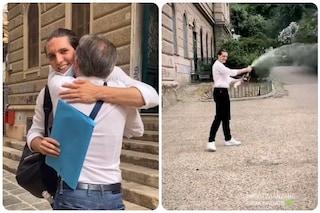 Tommaso Stanzani dopo Amici ha preso la maturità: foto e video dei festeggiamenti fuori scuola