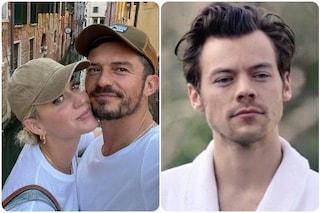 Reunion di star a Venezia: Harry Styles in gondola con Katy Perry e Orlando Bloom