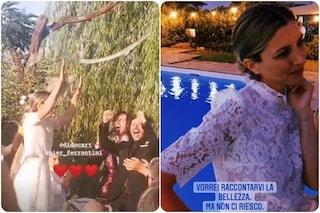 Carolina Di Domenico e Pier Ferrantini uniti in matrimonio, tra gli ospiti Lillo e Favino