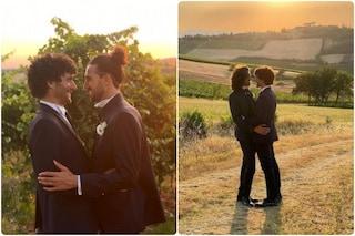 Fabrizio Colica e Giacomo Visconti si sono sposati, la bellissima dedica del comico romano