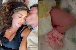 Belen Rodriguez ha partorito: è nata Luna Marì, figlia di Antonino Spinalbese. La foto su Instagram
