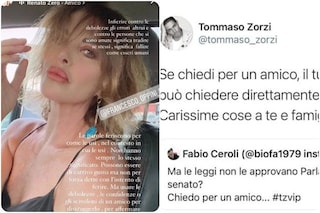 Tommaso Zorzi e Francesco Oppini ai ferri corti, il duro intervento di Alba Parietti