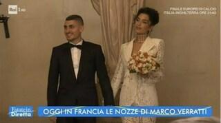 """Il matrimonio a Parigi di Marco Verratti e Jessica Aidi, il momento del """"sì"""""""