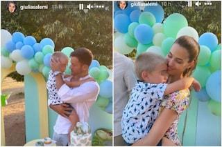 Giulia Salemi al compleanno di Leo, le sue foto del bimbo con Pierpaolo Pretelli e Ariadna Romero