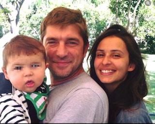 Libero De Rienzo morto d'infarto lascia la moglie Marcella Mosca e due figli di 6 e 2 anni