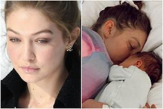 """Gigi Hadid scrive ai paparazzi e ai fan: """"Vi prego, non mostrate il viso di mia figlia"""""""