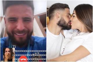 Le lacrime di Lorenzo Insigne e della moglie Jenny Darone dopo la vittoria di Euro 2020