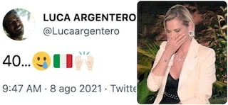 Luca Argentero festeggia le 40 medaglie dell'Italia, Simona Ventura pensava fosse il suo compleanno