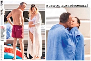 Le nuove foto del pancione di Denise Esposito, sarà il quinto figlio di Gigi D'Alessio