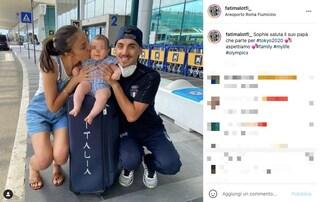 Massimo Stano con la moglie Fatima Lotfi e la figlia Sophie, la vita privata dell'oro nella marcia