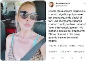 """Nega il saluto alla fan ed è polemica, Stefania Orlando: """"Passo per stron*a ma ero in vacanza"""""""