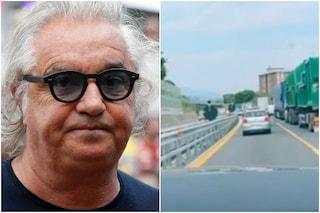 """Flavio Briatore bloccato nel traffico: """"Le autostrade italiane fanno schifo come chi le amministra"""""""
