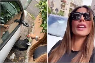 """L'auto di Guendalina Tavassi distrutta dai vandali: """"Siete invidiosi e cattivi, vi siete divertiti?"""""""