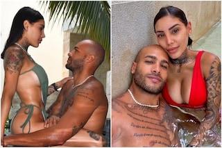 Marcell Jacobs e Nicole Daza in vacanza dopo l'impresa di Tokyo, le foto sensuali dal Messico