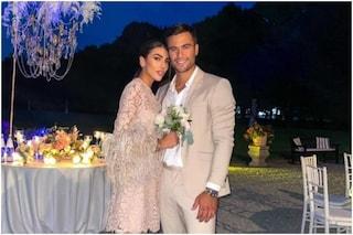 Prove di nozze tra Giulia Salemi e Pierpaolo Pretelli: lei prende il bouquet, il gesto di lui