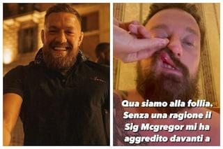 """Francesco Facchinetti aggredito da Conor McGregor: """"Èuna persona pericolosa"""""""