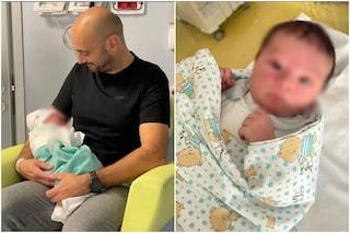 Paola Turani dopo il parto mostra le prime foto del piccolo Enea
