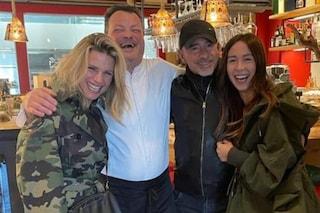 Eros Ramazzotti e Michelle Hunziker, pranzo insieme con Aurora Ramazzotti