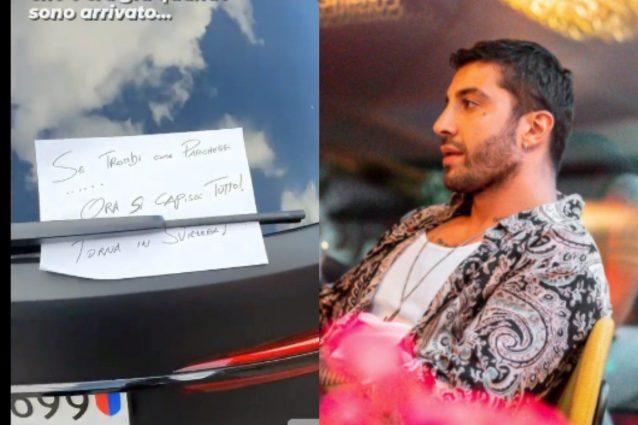 """""""Se tr*** come parcheggi"""", lo strano biglietto sulla sua macchina di Andrea Iannone"""