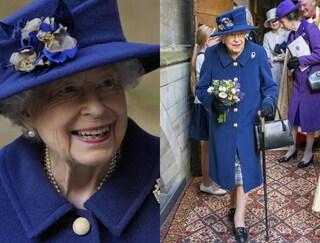 La Regina Elisabetta si mostra in pubblico con il bastone, sudditi in allarme