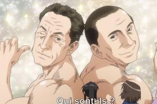 Berlusconi e Sarkozy coppia gay in un cartone giapponese (VIDEO)