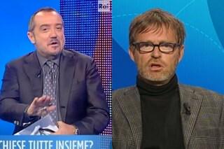 """Lite tra Facci e Franco Di Mare a Uno Mattina: """"Chiunque sia non mi interrompa"""""""