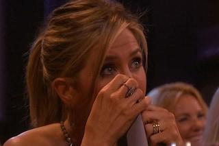 Le lacrime di Jennifer Aniston alla reunion di Friends (FOTO)