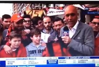 """Gaffe del giornalista di Sky Sport col piccolo tifoso del Milan: """"Fai un po' Kaká"""""""