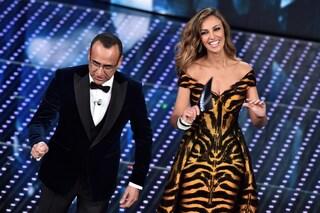 Madalina Ghenea debutta a Sanremo 2016 tra alti e bassi, commozione e gaffe