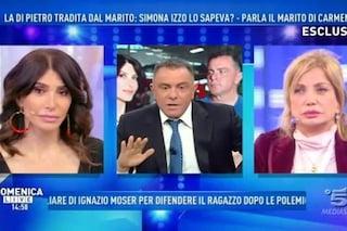 """Il marito della Di Pietro accusa la Izzo: """"Quello a Carmen non era uno scherzo, mi avevi visto"""""""