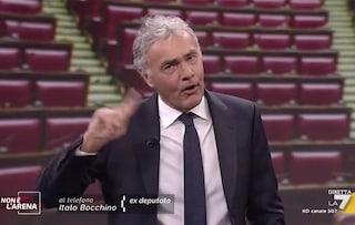 Massimo Giletti attaccato da Italo Bocchino, il conduttore si infuria in diretta tv